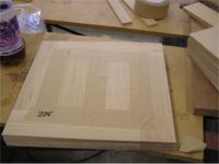 The carefully hand assembled and taped Design Parquet tile Dordt
