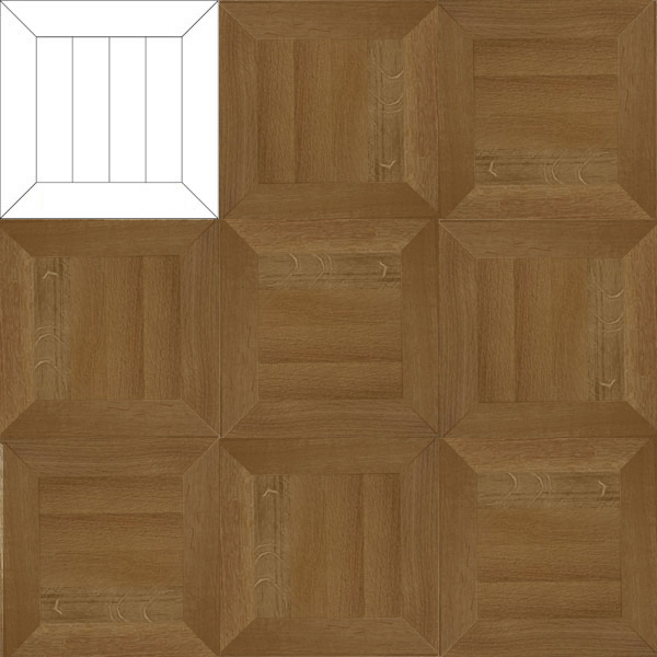 Wood You Like Design Parquet Pattern Dordt in Oak Prime