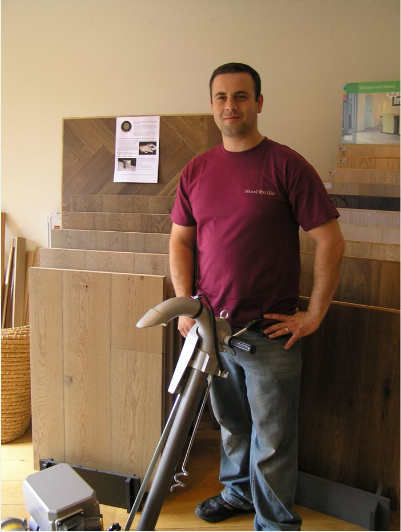 Barry who loves wood flooring, especially bringing back original parquet floors to their authentic grandeur
