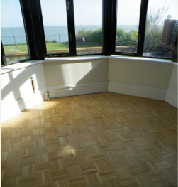 Oak mosaic floor lovely restored - finished with natural HardWaxOil