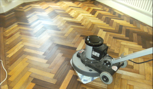 restoration of original Parquet floor almost completely  finished (Wood You Like Ltd)