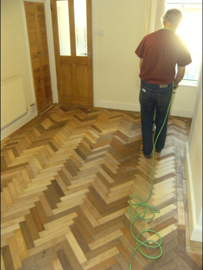 Restoration of original parquet floors by Wood You Like Ltd