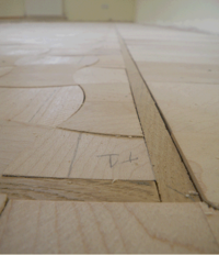 The unsanded Convex and Concave Maple Design Parquet floor
