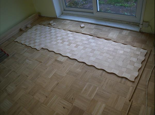 The first result of the Convex and Concave Maple Design Parquet Floor