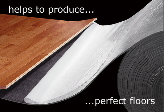 Elastilon self-ashesive underlayment for wooden flooring, available from Wood You Like - Kent