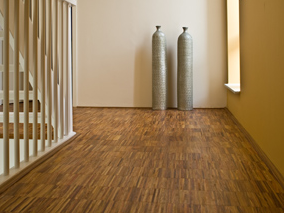 Hogh kant mosaic or vertical parquet in FSC certified wood-species