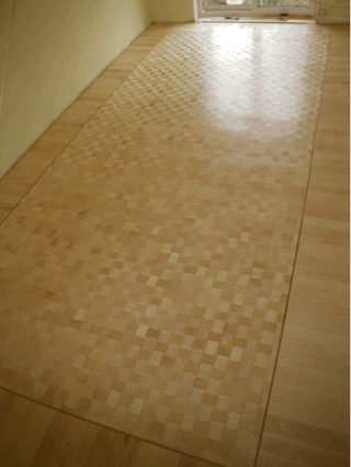 THe Convex and Concave Maple Design Parquet floor in its full glory!