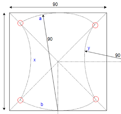 The dimensions and production drawing of the Convex and Convace Pattern floor