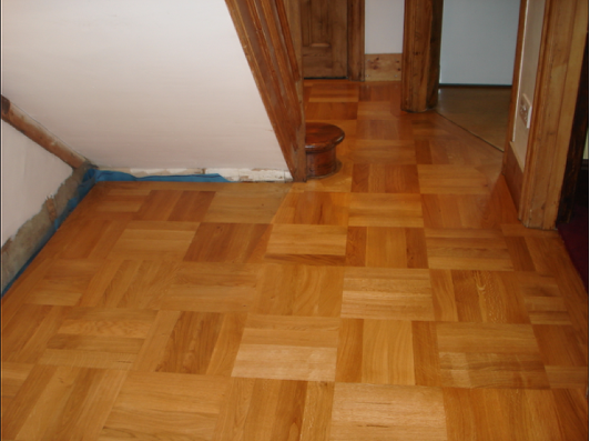 Create your own large mosaic pattern with standard herringbone blocks, from Wood You Like