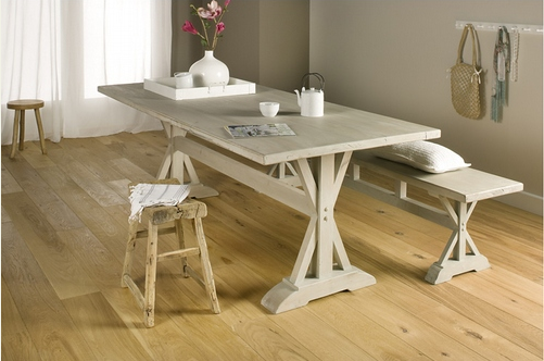 Most popular wood-engineered Oak 15/4 floor: rustic, brushed and oiled natural - Seattle
