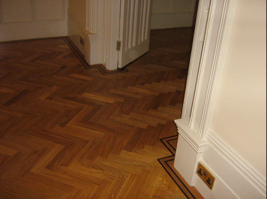 Excellent work by RC Bacon's improver - with a little help from Wood You Like's Installation Manual