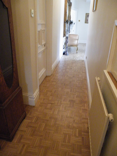 example of a restored Oak parquet floor
